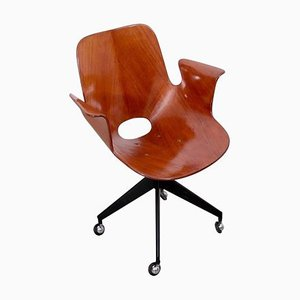 Medea Office Chair with Roles by Vittorio Nobili, 1950s