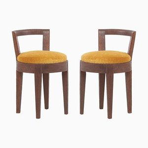 Art Deco French Stools by Francisque Chaleyssin, 1940s, Set of 2