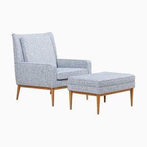 Modell 302 Sessel mit Ottomane von Paul McCobb, 1950er, 2er Set