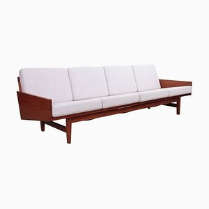 Walnut 4-Seat Sofa by Arden Riddle, USA, 1967