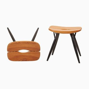 Stools by Ilmari Tapiovaara for Laukaan Puu, 1950s, Set of 2