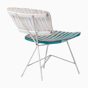 Holzlatten und Eisen Sessel von Arthur Umanoff für Raymor US, 1950er