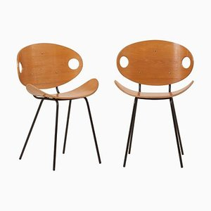 Finnische Eschenholz Stühle von Olof Kettunen für Merva Merivaara., 1950er, 2er Set