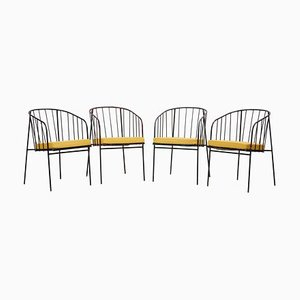 Iron Rod Outdoor Chairs by George Nelson for Arbuck, 1950s, Set of 4