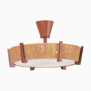 Flush Mount with Cord Shade from Temde, 1960s