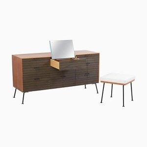 Kommode mit Hocker von Raymond Loewy für Mengel Furniture Co., USA, 1950er, 2er Set