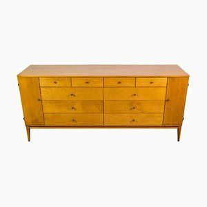 20-Drawer Cabinet with Brass Pulls by Paul McCobb for Winchendon Furniture Company, 1950s