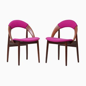 Teak Dining Chairs by Arne Hovmand-Olsen, 1960s, Set of 2