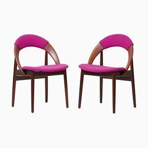 Teak Esszimmerstühle von Arne Hovmand-Olsen, 1960er, 2er Set
