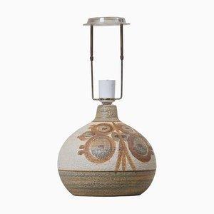 Keramik Tischlampe von Søholm, Dänemark, 1960er