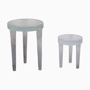 Prototype Glass Side Tables by Ellen Felixon, 1950s, Set of 2