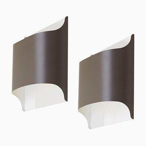 Deutsche Architektonische Wandlampen von Staff, 1970er, 2er Set