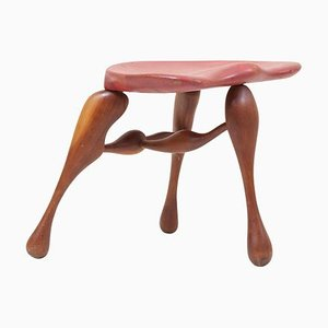 Studio Craft Wooden Stool by Ron Curtis, USA, 1980s