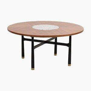 Großer Tisch aus Nussholz & Terrazzo Marmor von Harvey Probber, 1960er