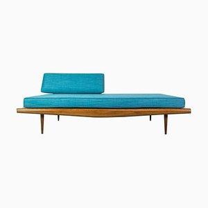 Sofá cama americano de nogal de Adrian Pearsall para Craft Associates, años 50