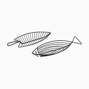 Fischschalen aus Draht, 1950er, 2er Set