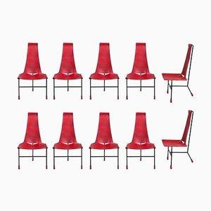 Dreibein Esszimmerstühle von Dan Wenger, 2017, 10er Set