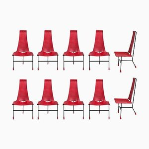 Tripod Dining Chairs by Dan Wenger, 2017, Set of 10