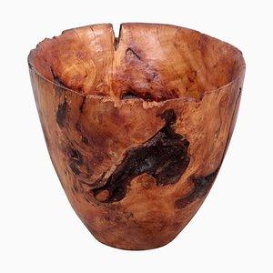 Large Turned Apple Wood Bowl by Eckart Mohlenbeck