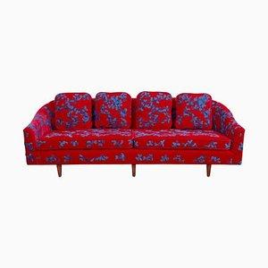 Sofá de tela bordada de Harvey Probber, años 60