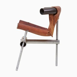 Prototype Leather Sling Chair by Max Gottschalk, USA, 1960s
