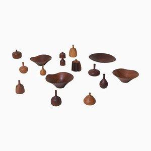 Collezione grande in legno di Rude Osolnik, anni '70, set di 15