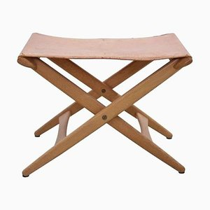 Folding Stool by Uno & Östen Kristiansson for Luxus, 1960s