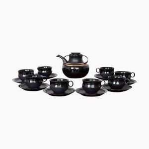 Tea Set Series Noire by Tapio Wirkkala for Rosenthal, 1960s, Set of 17