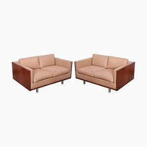 Walnuss Sofas von Milo Baughman für Thayer Coggin, 1960er, 2er Set