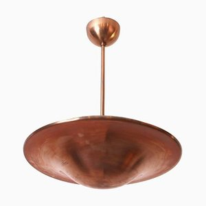 Functionalist Copper Pendant Lamp, 1930s