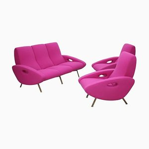 Sofa and Armchair Set by Maurice Mourra Freres, 1950s, Set of 3
