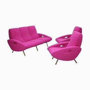 Sofa und Sessel Set von Maurice Mourra Freres, 1950er, Set of 3