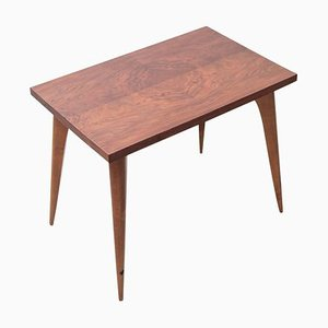 Art Deco French Walnut Side Table, 1930s