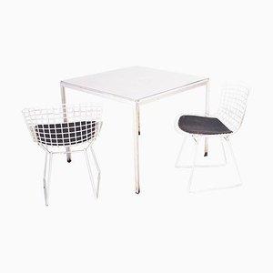 Esstisch & Stühle von Florence Knoll für Knoll, 1950er, 3er Set