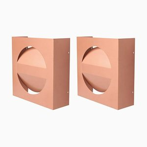 Architectural Wall Lights in Copper Lacquer from Raak, 1960s, Set of 2