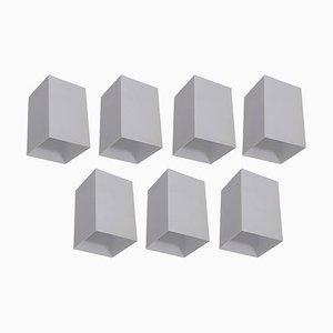 Architektonische Weiß Quadratische Deckenlampen von Raak, 1960er