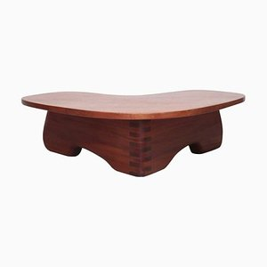 Free-Form Mahogany Studio Coffee Table, USA, 1960s