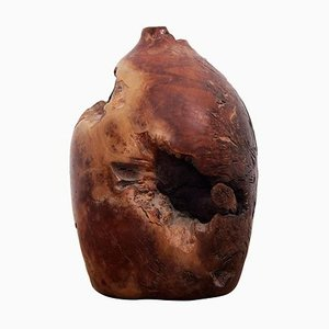 Burl Wood Vase from California, 1960s