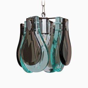 Murano Glas Hängelampe im Stil von Fontana Arte, 1960er