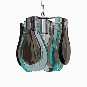 Murano Glass Pendant Lamp in the Style of Fontana Arte, 1960s