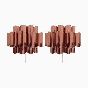 Copper Sconces by Verner Schou, 1960s, Set of 2
