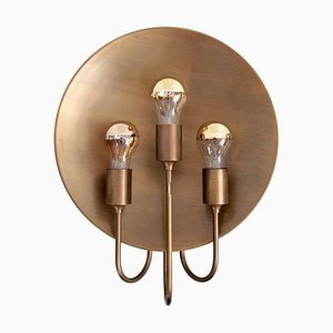 Large Brass W185 Wall Light by Florian Schulz, Germany, 1960s