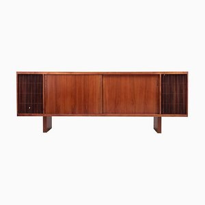 Large Mid-Century Hifi Phone Credenza in Walnut, USA, 1960s