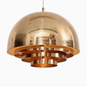 Brass Chandelier or Pendant Light from Münchner Werkstätten, 1960s