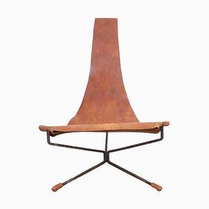 Leder Lotus Sessel von Dan Wenger, 1970er