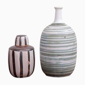 Studio Art Pottery by Ahlstrom, California, 1960s, Set of 2