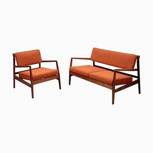 Sofa Set with Missoni Fabric by Jens Risom, 1950s, Set of 2
