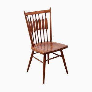 Solid Walnut Model Centennial Desk Chair by Kipp Stewart for Drexel, USA, 1950s
