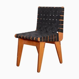 Plywood Chair in Black Webbing by Klaus Grabe, 1950s