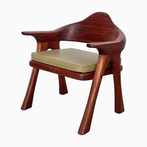 Studio Sessel aus massivem Walnuss von Ben Rouzie, 1970er